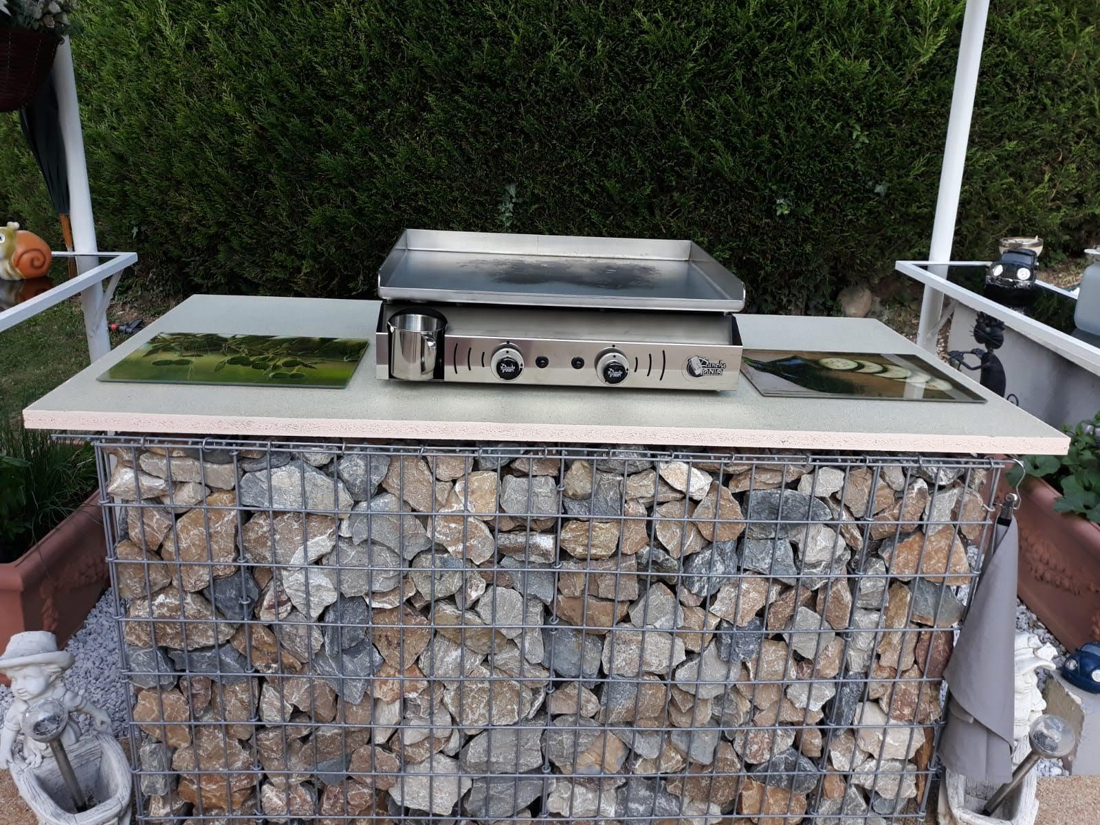 Création d'un support de barbecue en gabions